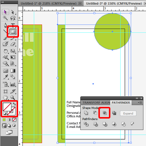 making a preview screen by intersecting objects