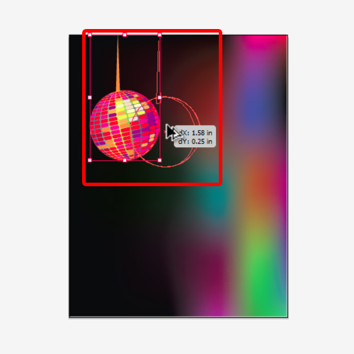 copying the disco ball illustration