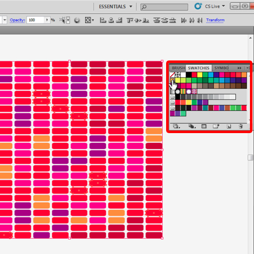 adding colors to the grid pattern