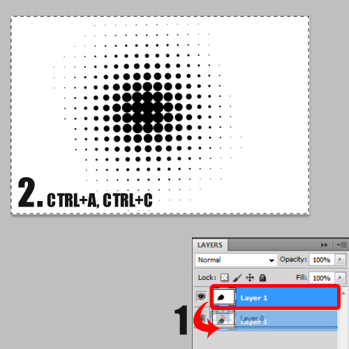 copying the halftone layer