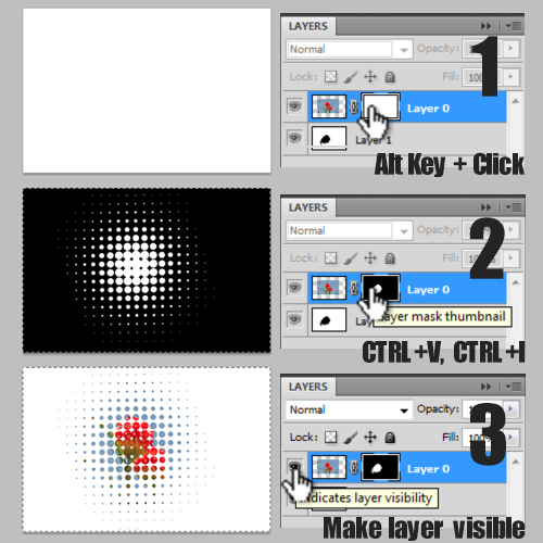 making the halftone effect on the image layer
