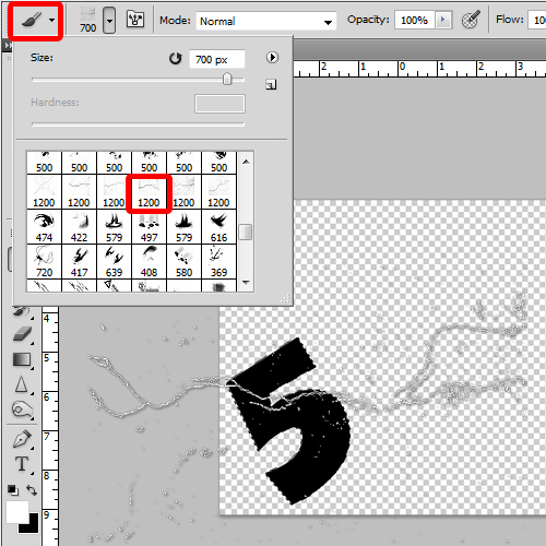 adding texture to the text