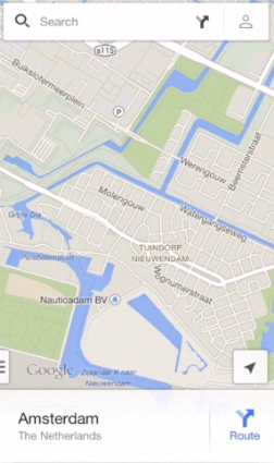 accessing Google Maps offline on iPhone running on iOS 7