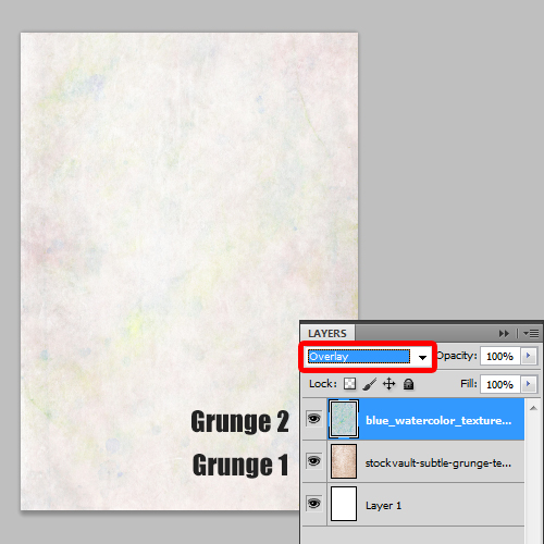 adding grunge patterns to the background
