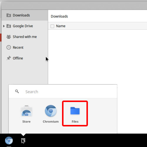 file managers in Google chrome OS