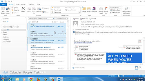 Select the email messages