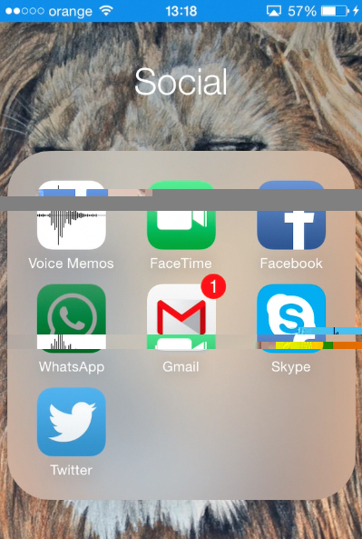 opening WhatsApp app on iPhone running on iOS8
