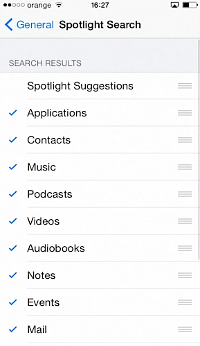 deactivating Spotlight Suggestions