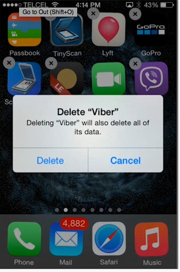 Only then you should proceed to delete app