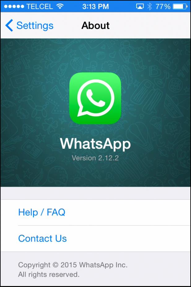 Ensure you have the latest version of WhatsApp