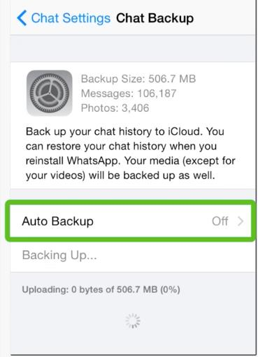 Tapping Auto Backup