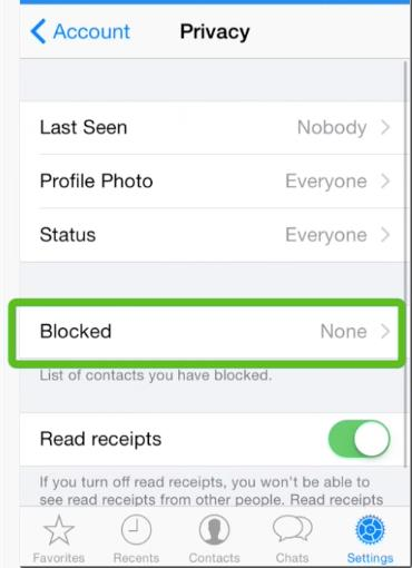 Select Blocked