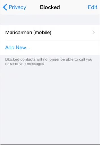 Choose which contact you want to block