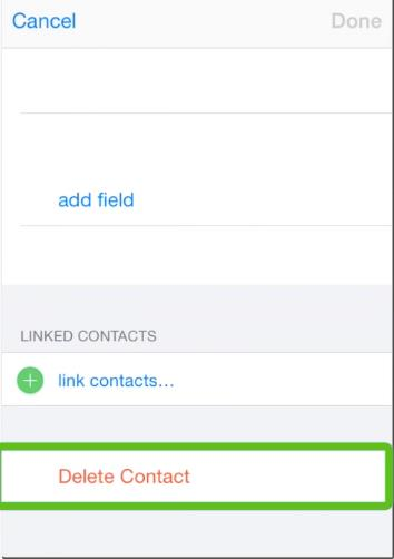 Tap Delete Contact