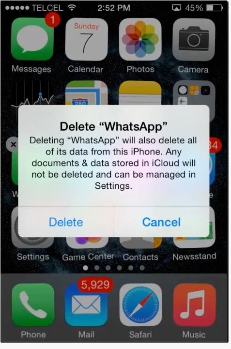 delete and reinstall the app
