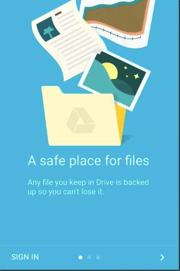 login to this Google drive app