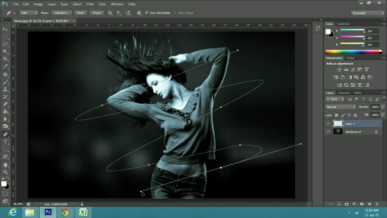 a Neon Lasers Effect in Adobe Photoshop