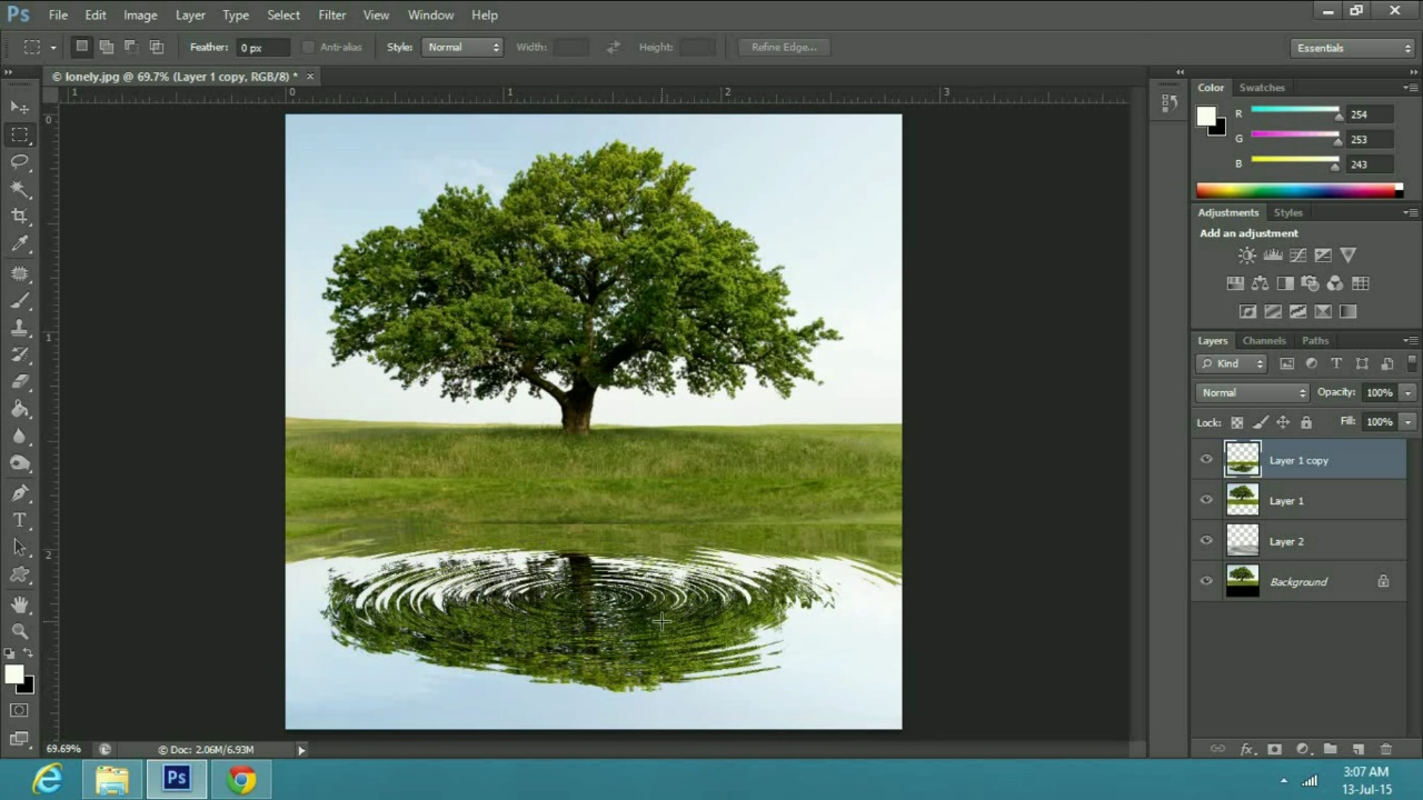 a Realistic Water Reflection Effect in Adobe Photoshop