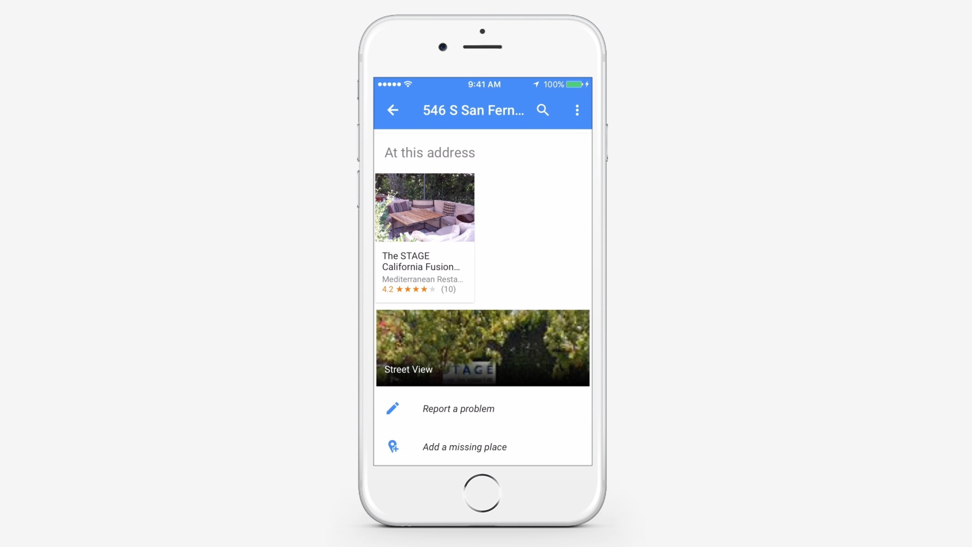 Start the Google Maps Application