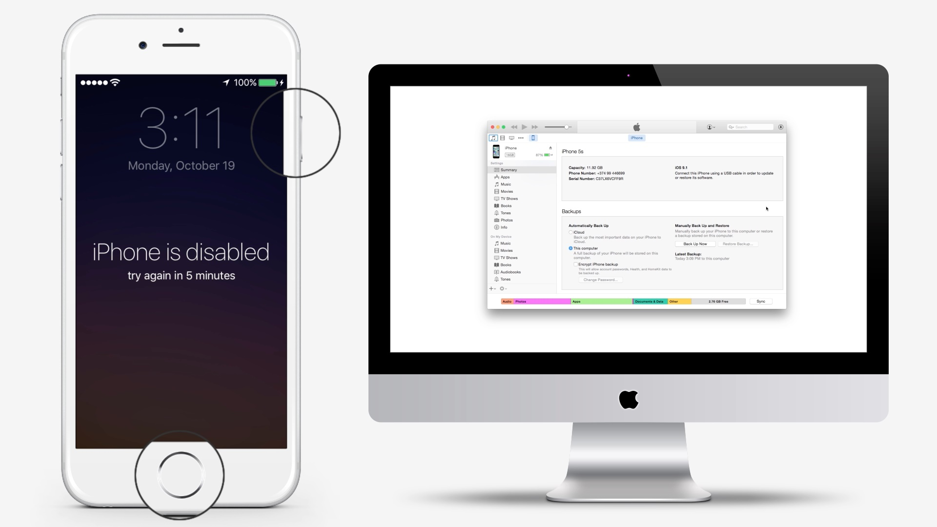 Recover iPhone When It's Disabled