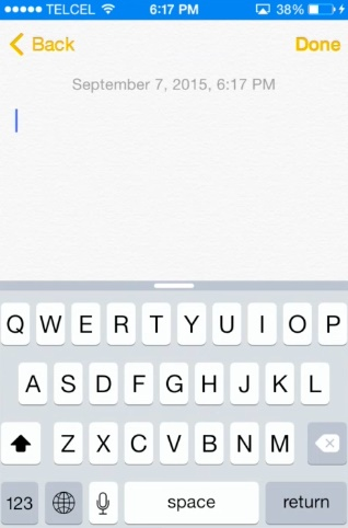 use dictate options instead of typing on iPhone