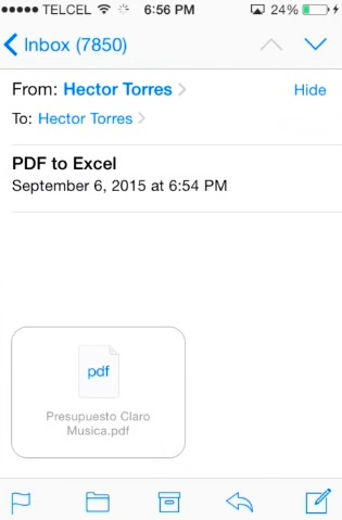 convert PDF to Excel on the iPhone