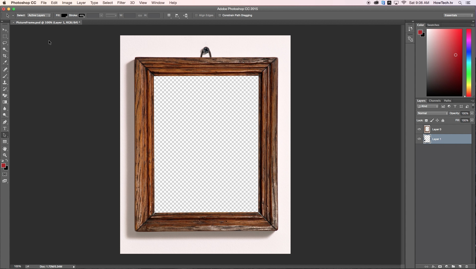 import pictures file to an existing psd in Photoshop