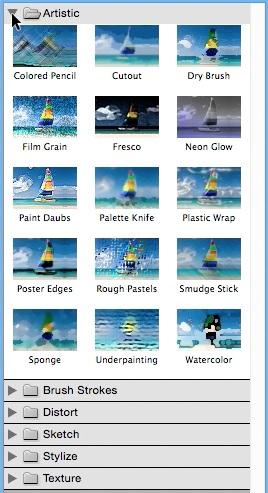 Use Photoshop Filter Gallery