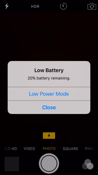 Power saving mode on iPhone in iOS 9