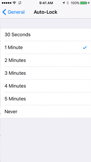 iPhone settings on iOS 9