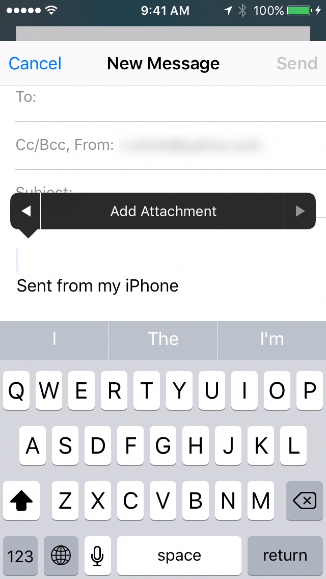 Add Mail Attachment from iCloud