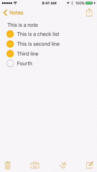 Create Checklists In the iPhone Notes App