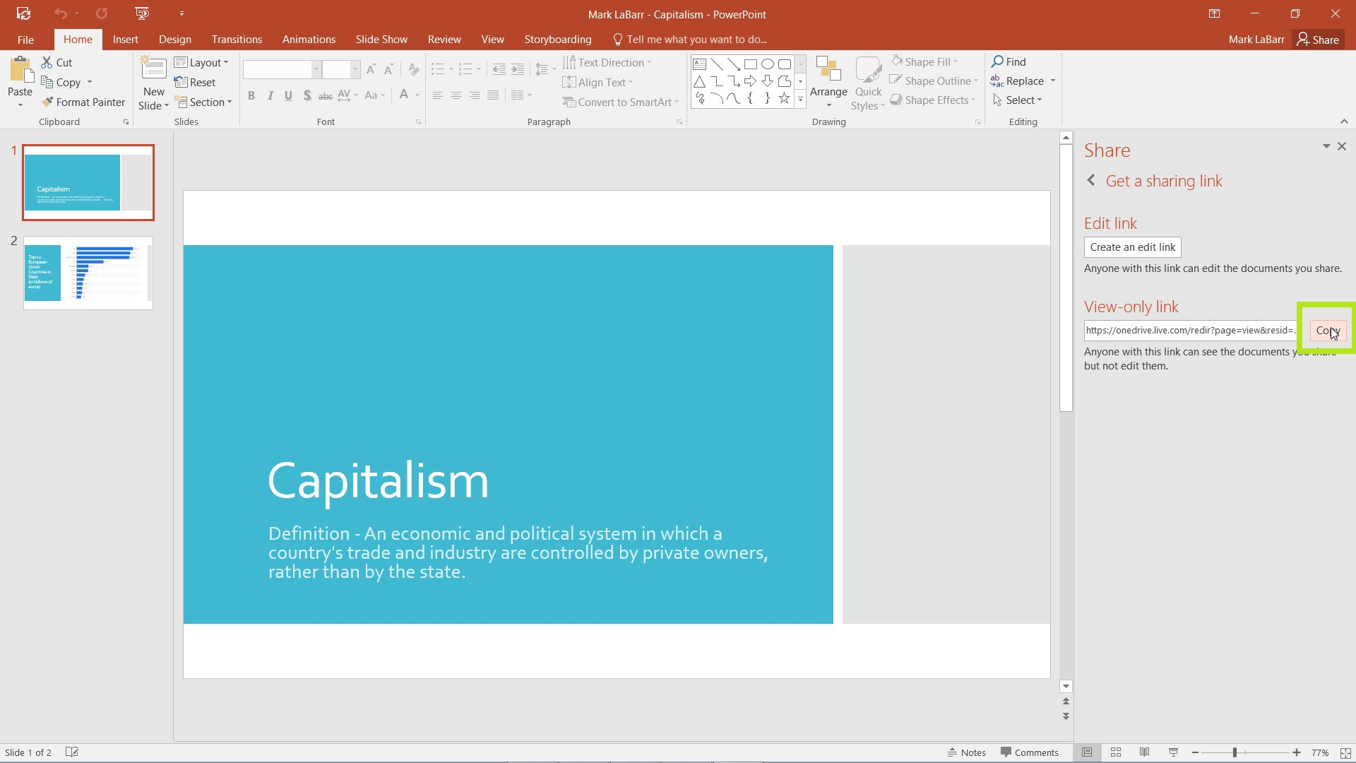 How to Share PowerPoint Presentation