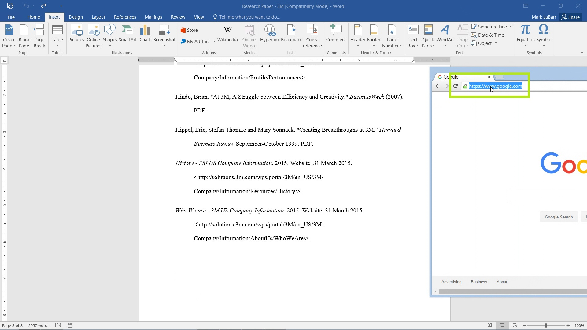 Add Hyperlinks in Word 2016