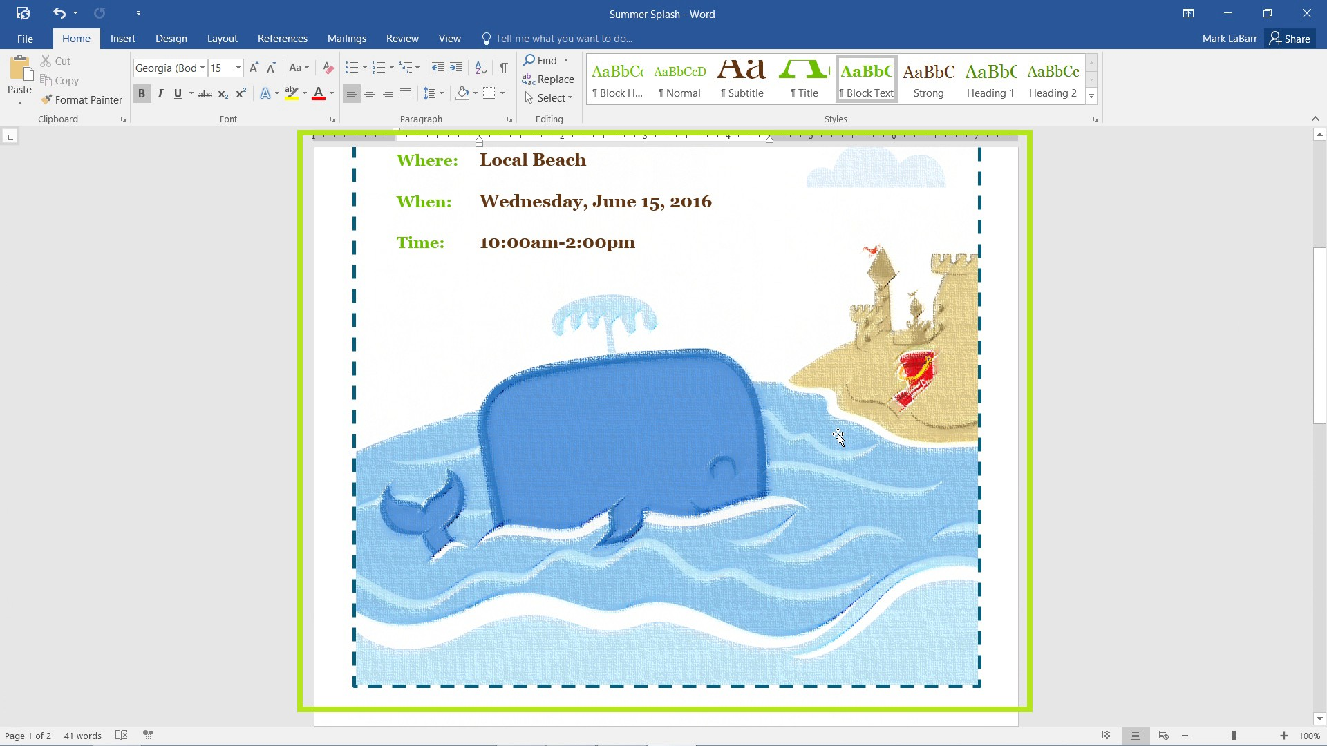 Edit Images and Screenshots in Word 2016