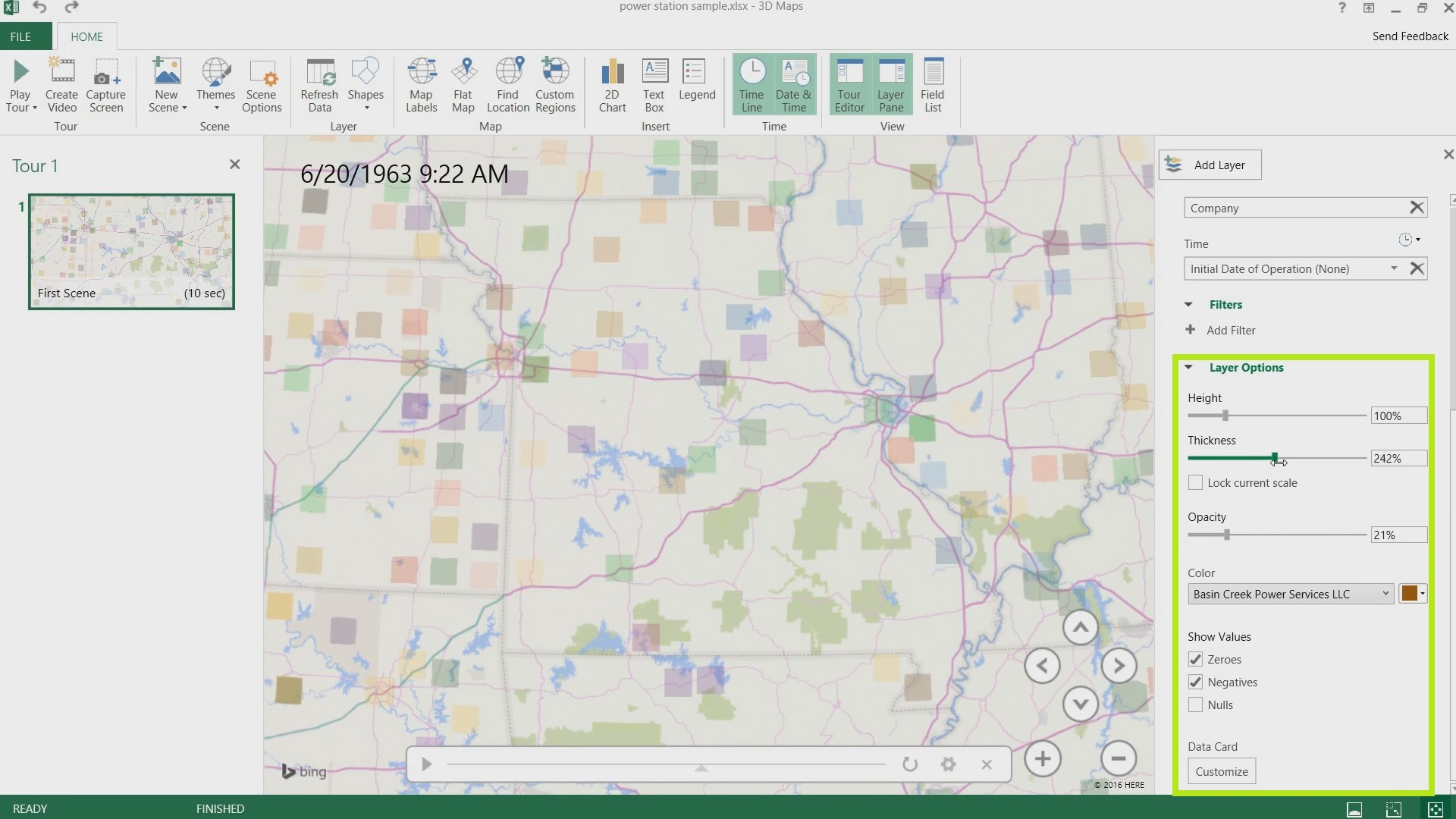 3D Maps in Excel 2016