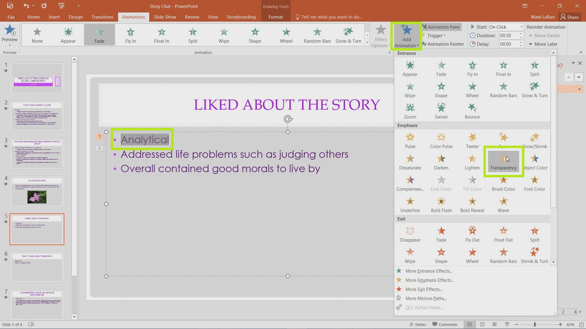 Add and Effectively Use Animations in PowerPoint 2016