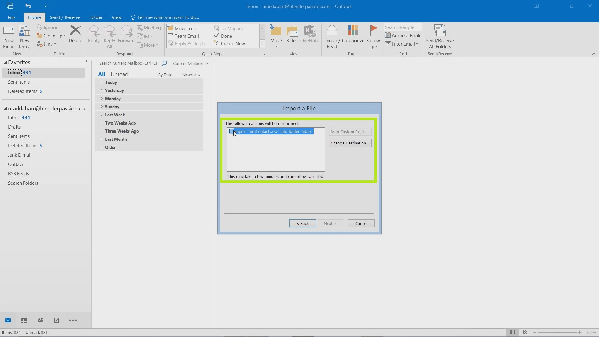 How to Import Contacts into Outlook 2016