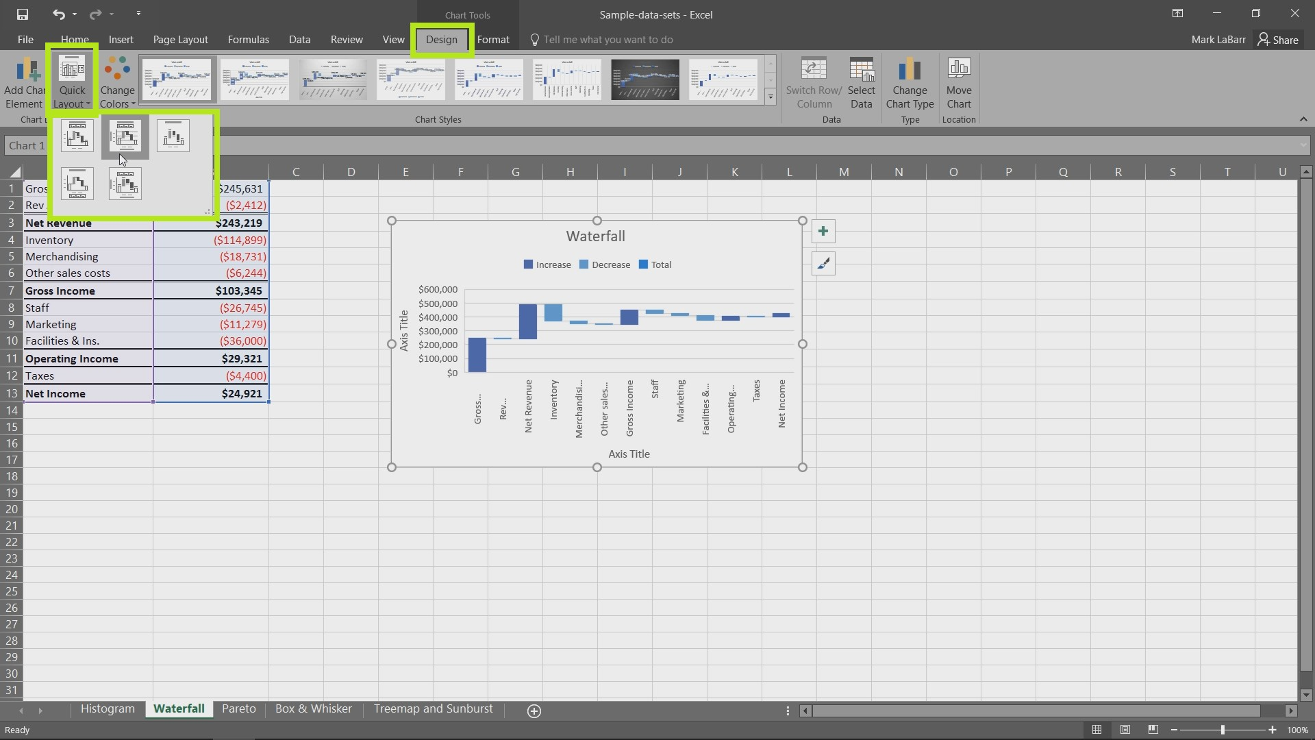 New Charts in Excel 2016