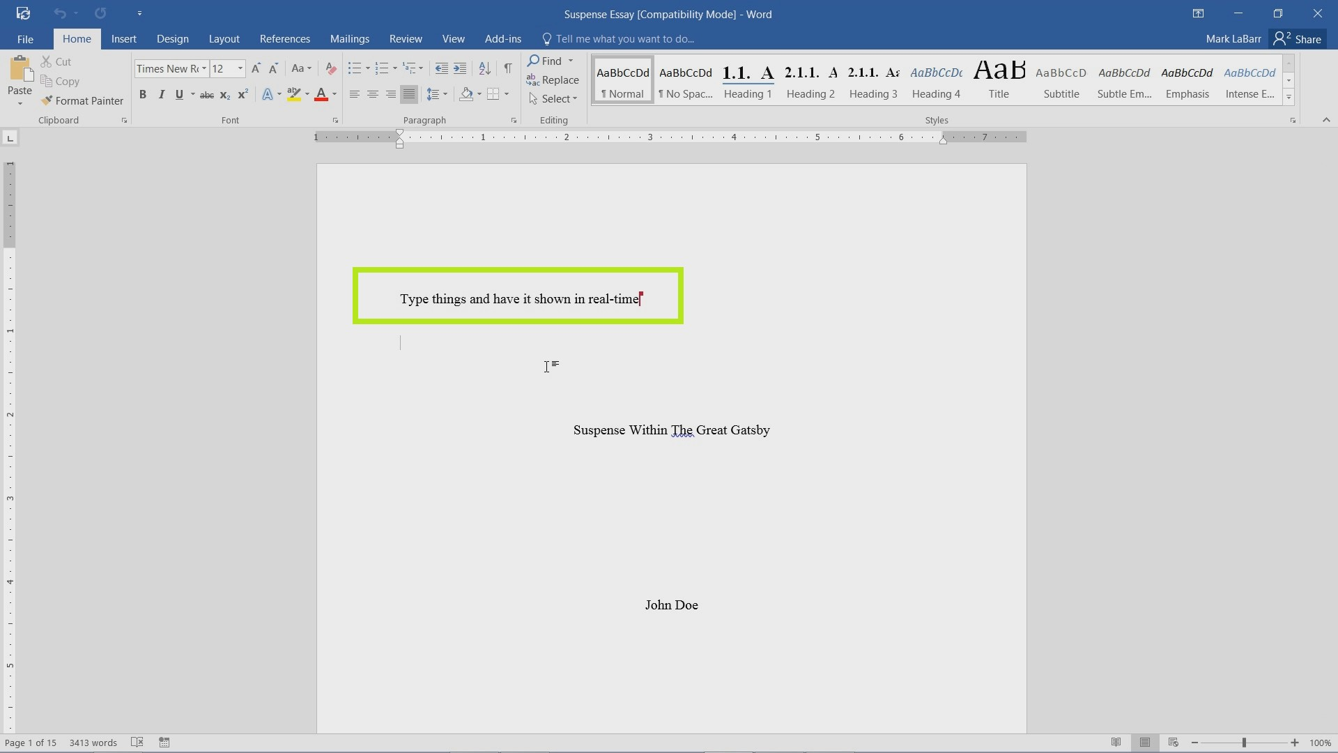 Real-Time Collaboration in Word 2016