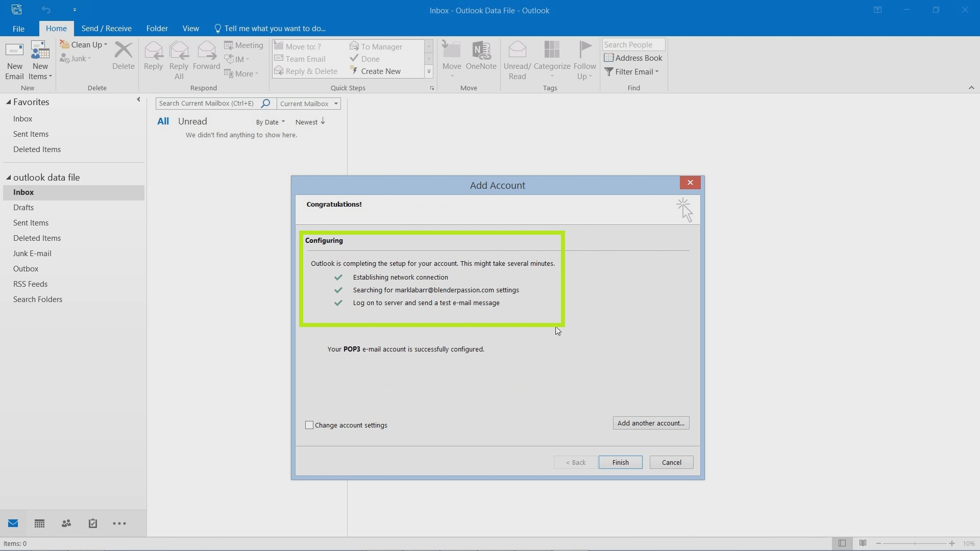 Setting up Your Email in Outlook 2016