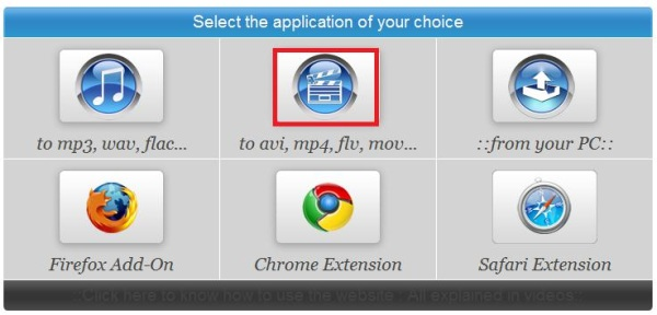 """menu """"select the application of your choice"""""""