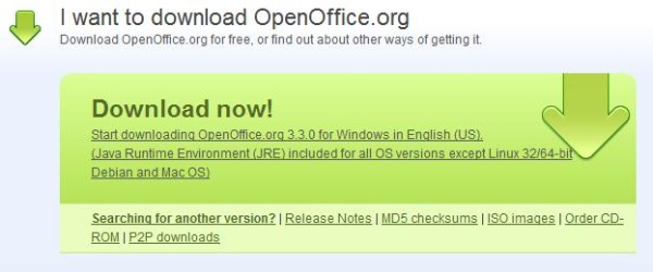 openoffice download page