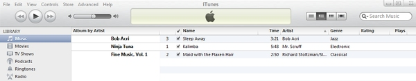 music library in itunes