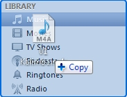 drag and drop the m4r file to the iTunes music library