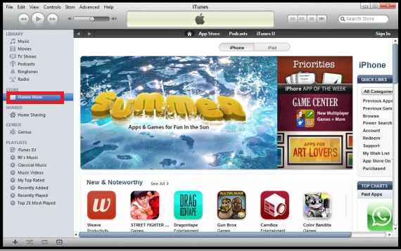 itunes window