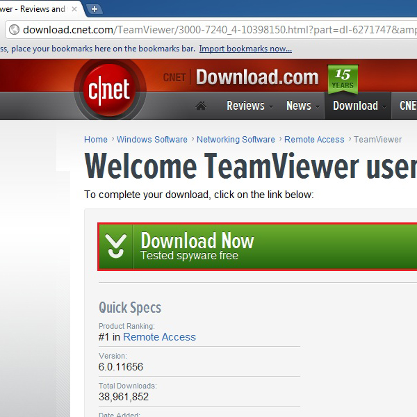 Download Team Viewer setup