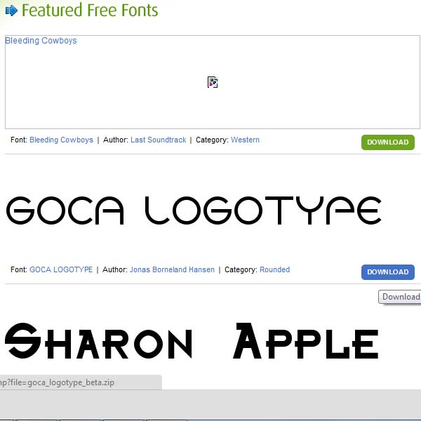 Search your desired fonts