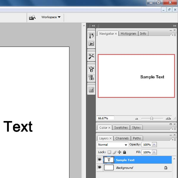 "Using the ""Text"" tool in Photoshop"