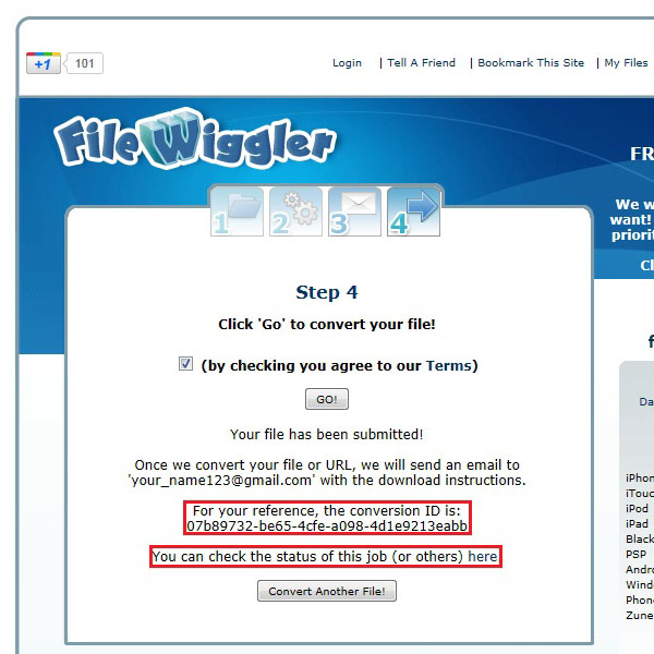 Select and save the file reference code
